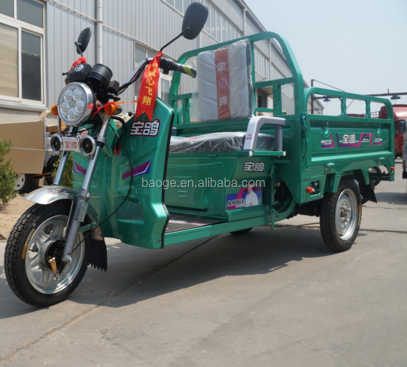 Newest cheap cargo electric auto tricycle model with three wheel