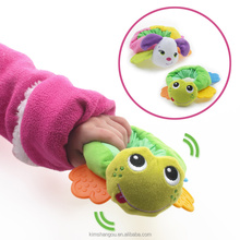 Noise Maker Cute Soft Animal Plush Stuffed Baby Rattles Educational Teeth Hand Rattle For Baby toys