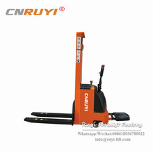 1 ton 1.6 m Powered Pallet Truck/ small full electric stacker forklift