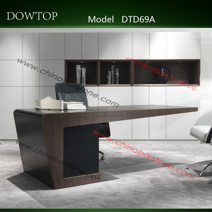 Factory Price Artificial Marble Top Commercial Furniture Office Desk By  China Manufacture