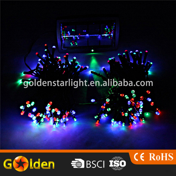 Outdoor Garden Decorative Solar Energy Color Flash 100 Led Christmas Light