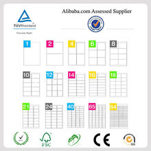 A4 Self Adhesive shipping Sheet Blank White Printer Label