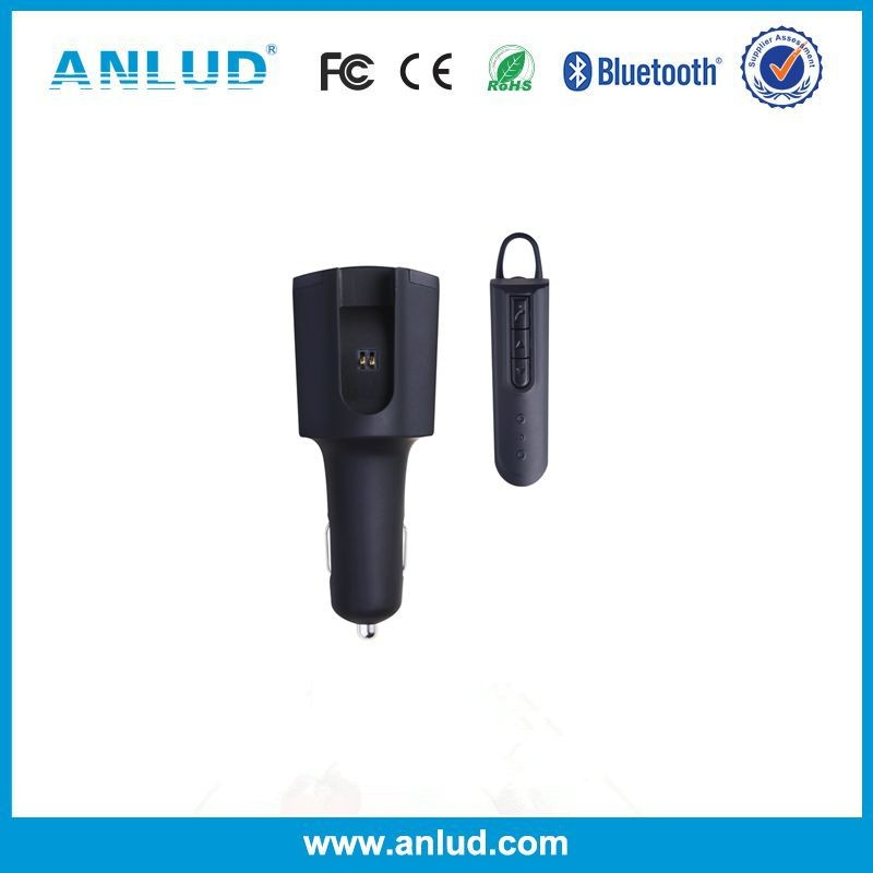 ALD50 2017 Usb Car Charger with Bluetooth earphone