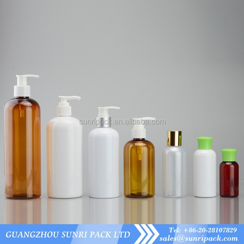 1oz,2oz,3oz,4oz,8oz,10oz,16oz, 20oz white boston round plastic bottle with lotion pump