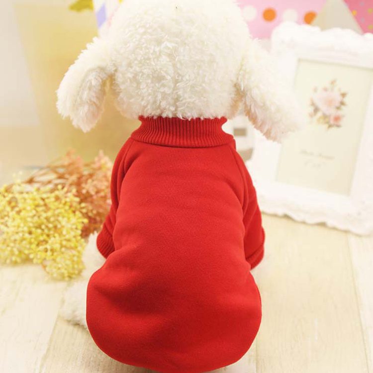 Pure Color Dog Sweater With Cashmere To Keep Warm