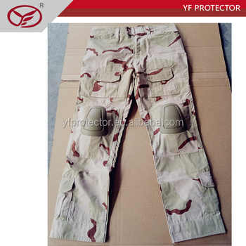 Separated knee pads camouflage military tactical pants