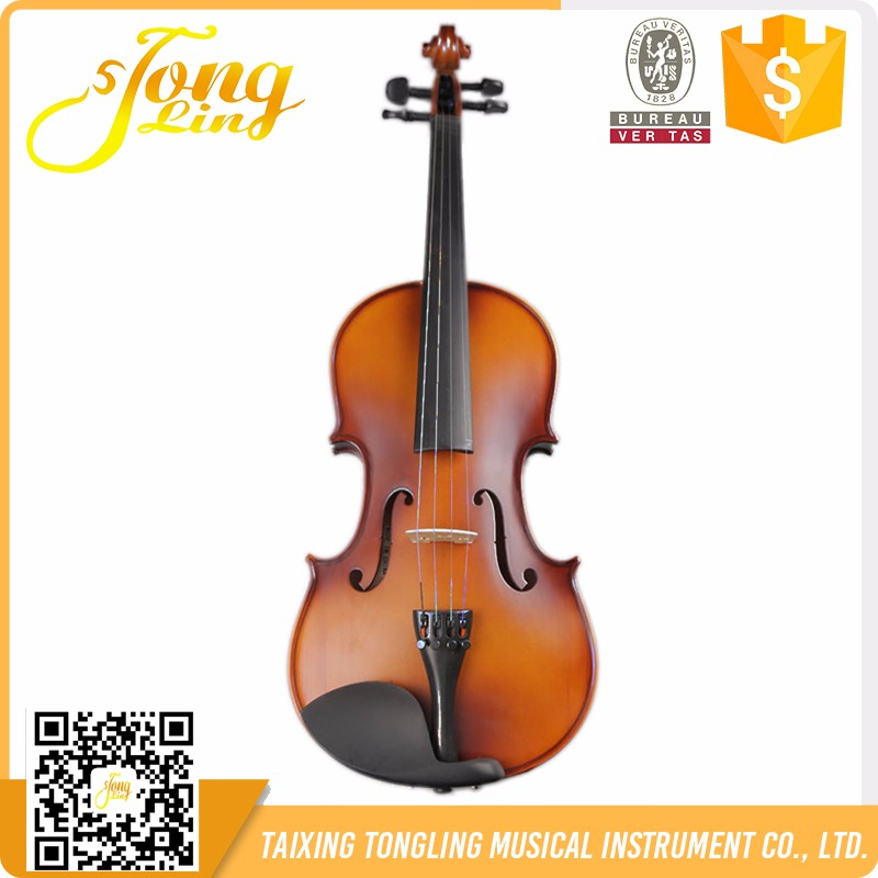 Customized Student Cheap Acoustic Violin Solid Wood Beginner Violin 4/4 3/4 1/4 With Case Bow Made in China