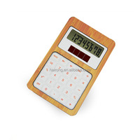 Hairong eco Material and dual Power Source bamboo desk Calculator
