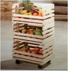 Hot sale cheap wooden fruit display rack for supermarket