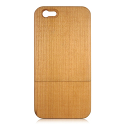 For iPhone6 Wood Case Natural Wood Mobile Phone Case (with wood button)