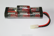Enrichpower 8.4V 3000mAh 7-cell NiMH Battery with Tamiya Plug for RC Cars Truck Airplane Helicopter Boat and Power Tools