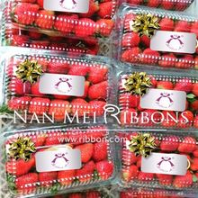 F&B Promotion Fruit Idea Mini Plastic PP Ribbon Star Bow for Package Decoration plastic box supermarket highlight Food Beverage