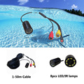 4-24V mini underwater CCTV fish finder video fishing camera(1-50m cable for optional)
