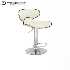 Hot Selling Outdoor PU Leather Bar Chair with Adjustable Legs