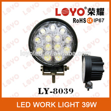 2015 waterproof round 39W LED tuning working light, trailer 4*4 led work lamp