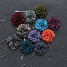 Custom unisex fabric flower lapel pins, suits pins for men
