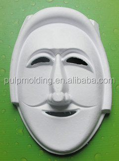 Cosplay party mask wholesale V for vendetta mask for sale paper pulp mask