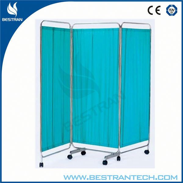 China BT-CP002 hospital 3 fold medical bed room divider, mobile Cubicle Curtain price