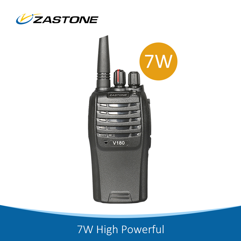 Portable Radio ZASTOEN V180 UHF 7W high power wireless tour guide system walkie talkie