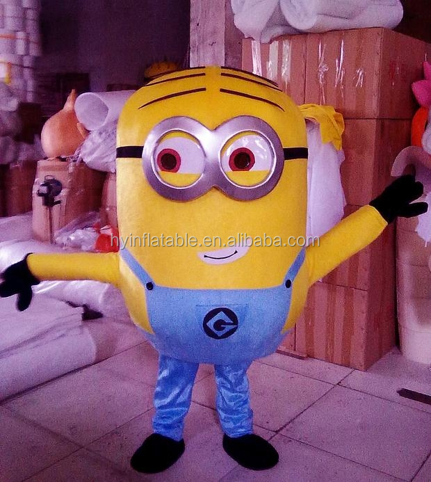 2015 inflatable costumes walking mascot, despicable me minion inflatable costumes walking mascot