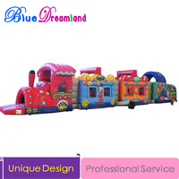 Giant high quality PVC Outdoor Inflatable trampoline Jurassic Park inflatable playground inflatable obstacle course