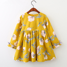 Spring New Style Flower Girl Child Long Sleeve Dress Made in China