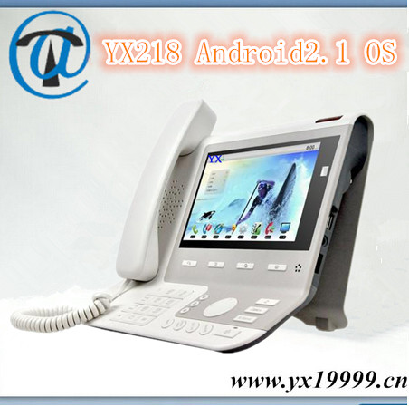 YX218 video ip phone 4 sip line android video low cost sip phone with free registration