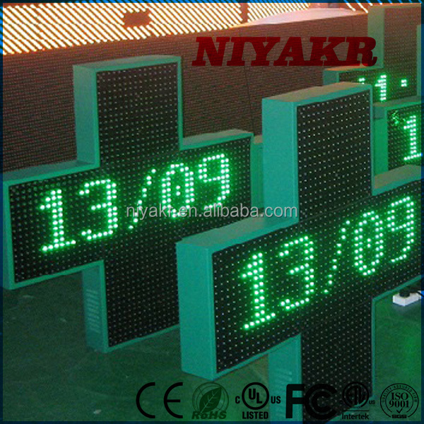 Niyakr Wholesale Alibaba China Outdoor Double Sided 3D 80Cm Pharmacy Led Cross Edit Software