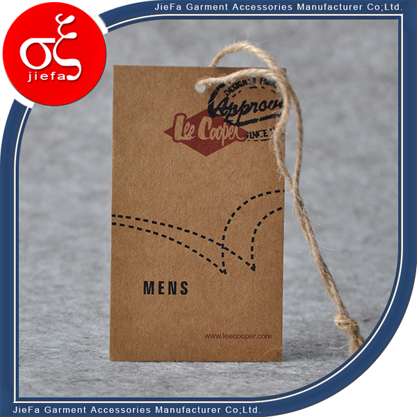 Customized Design Fast Delivery Kraft Paper Hang Tag Belt