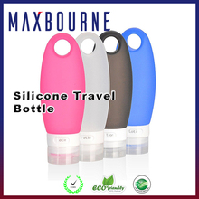 hotselling 3.3oz set of 4 pcs TSA airline Carry-On approved portable Squeezable Refillable silicone travel bottles