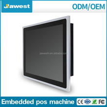 wall mount 19 inch wide screen restaurant pos machine/pos terminal with touch screen