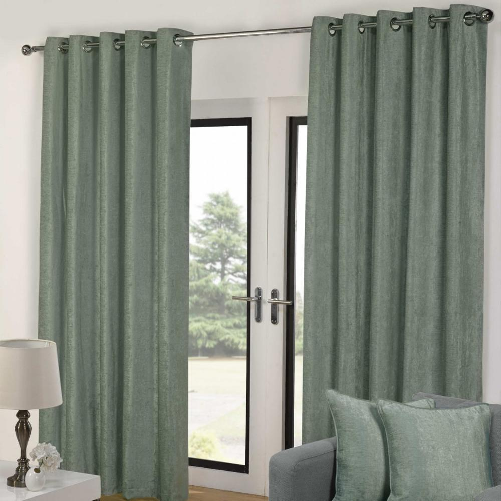 2018 wholesale chenille blackout window curtain for living room