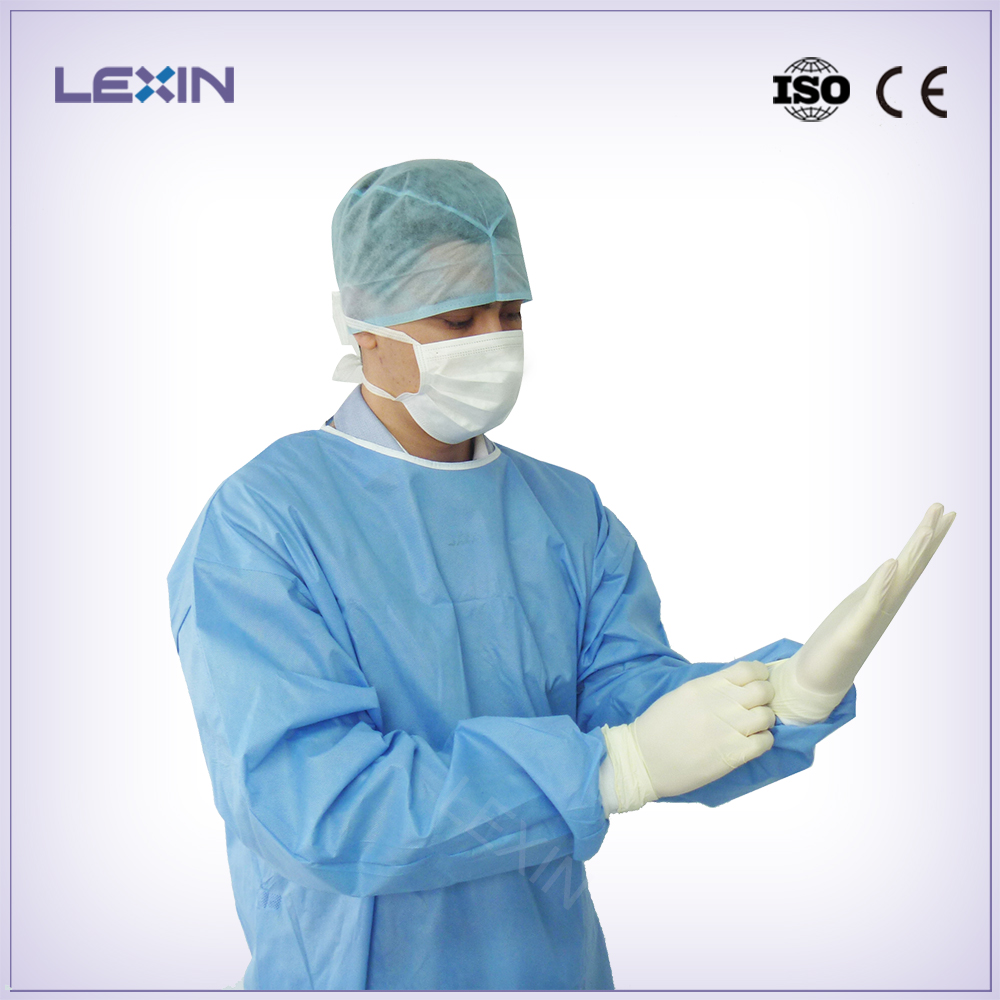 Disposable sterilized SMS surgical gown