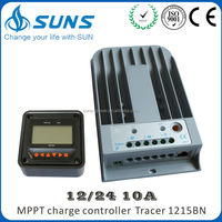 Lcd Led Rs232 Lan mppt solar charge controller off grid digital LCD screen 12/24V 10A