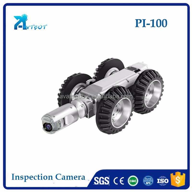 video camera line inspection service sewer inspection camera used in 200-2000mm diameter pipe