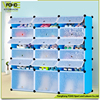 Custom 6 tier different color plastic storage wardrobe, easy clean and easy assemble plastic storage