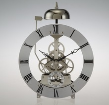 Conda Silver color Metal quartz skeleton clock movement with hourly Chime SKM80-D6-S