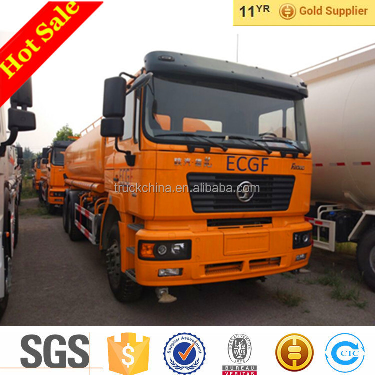 2016 New SHACMAN 6x4 20CBM Water Tanker Truck For Sale