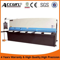top quality QC12Y hydraulic steel plate /sheet shearing machine new design manufacturer