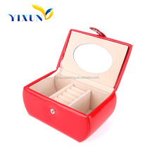 Stackable custom pu leather jewelry box making supplies