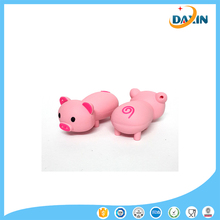 100% Silicone Real Capacity U Disk Pen Drive Minnie Pink Pig Cute Model