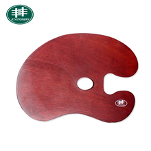 Professional Wooden Oval Shape Painting Palette For Artist