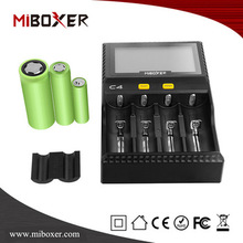 Portable Battery Charger 4 Slots E-cig Charger, 18650 Battery Charger with LCD Screen