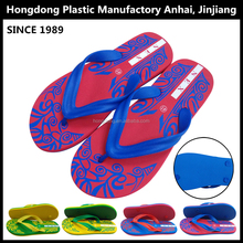 2015 summer EVA sandal man beach slipper custom printed flip flops