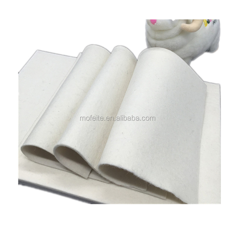factory nonwoven fabric 3mm thick 100% wool felt