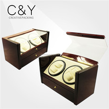 Dual Motor Automatic China Wooden Watch Winder