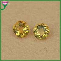 High quality gemstone yellow round brilliant cut natural imperial topaz