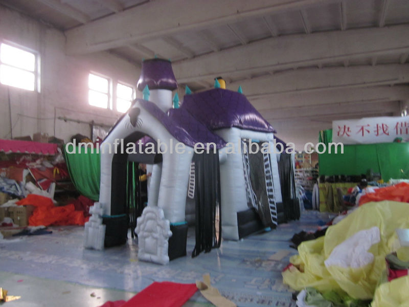 2013 new design halloween party decoration inflatable haunted house