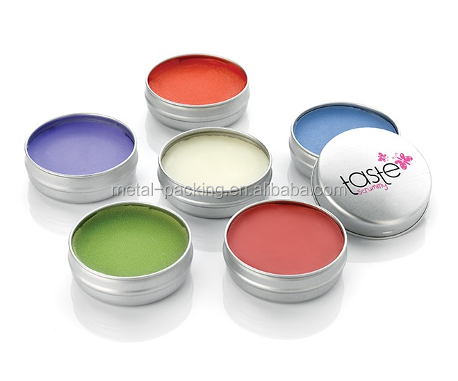 small custom round lip balm tin