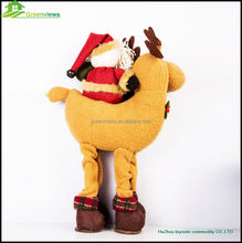soft christmas toy/stuffed soft christmas toys/Santa Claus rides Milu deer style plush dolls